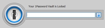 Figure 1. 1Password4 in a locked state awaiting master password input.
