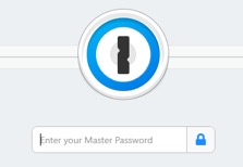 Figure 5. 1Password7 in a locked state, having previously been open and then locked.